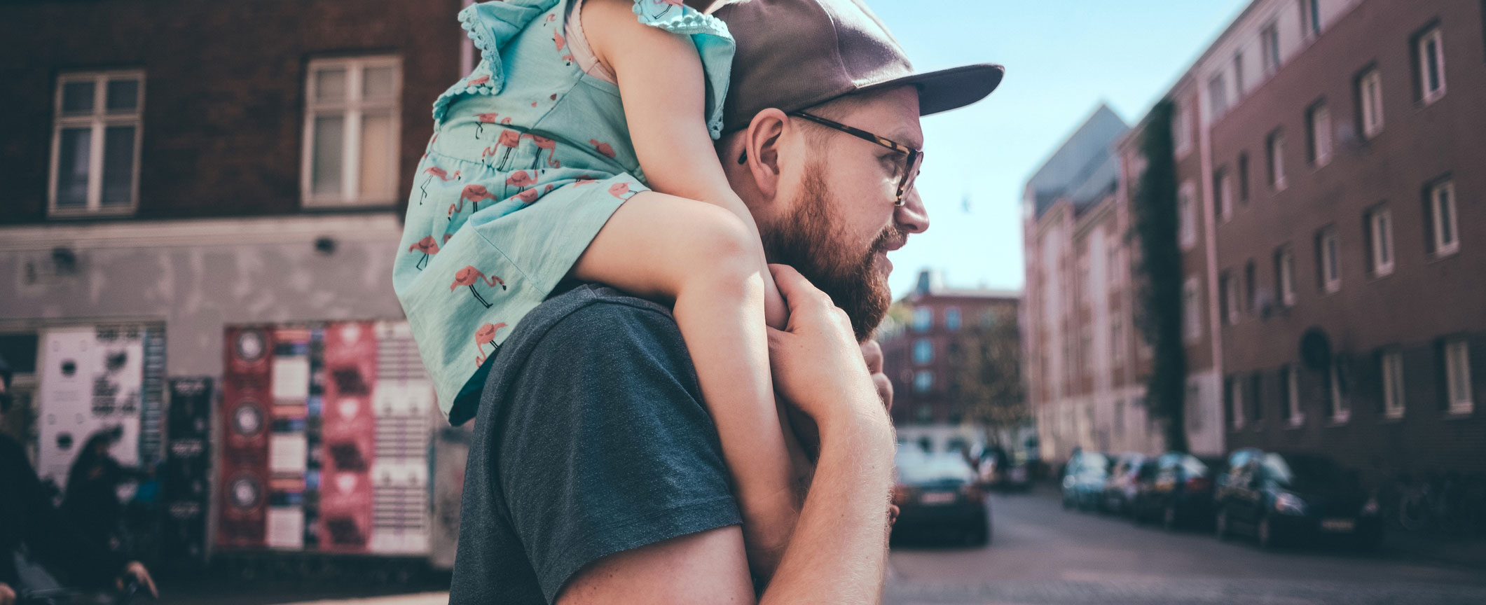 Daughter on Fathers Shoulders 2
