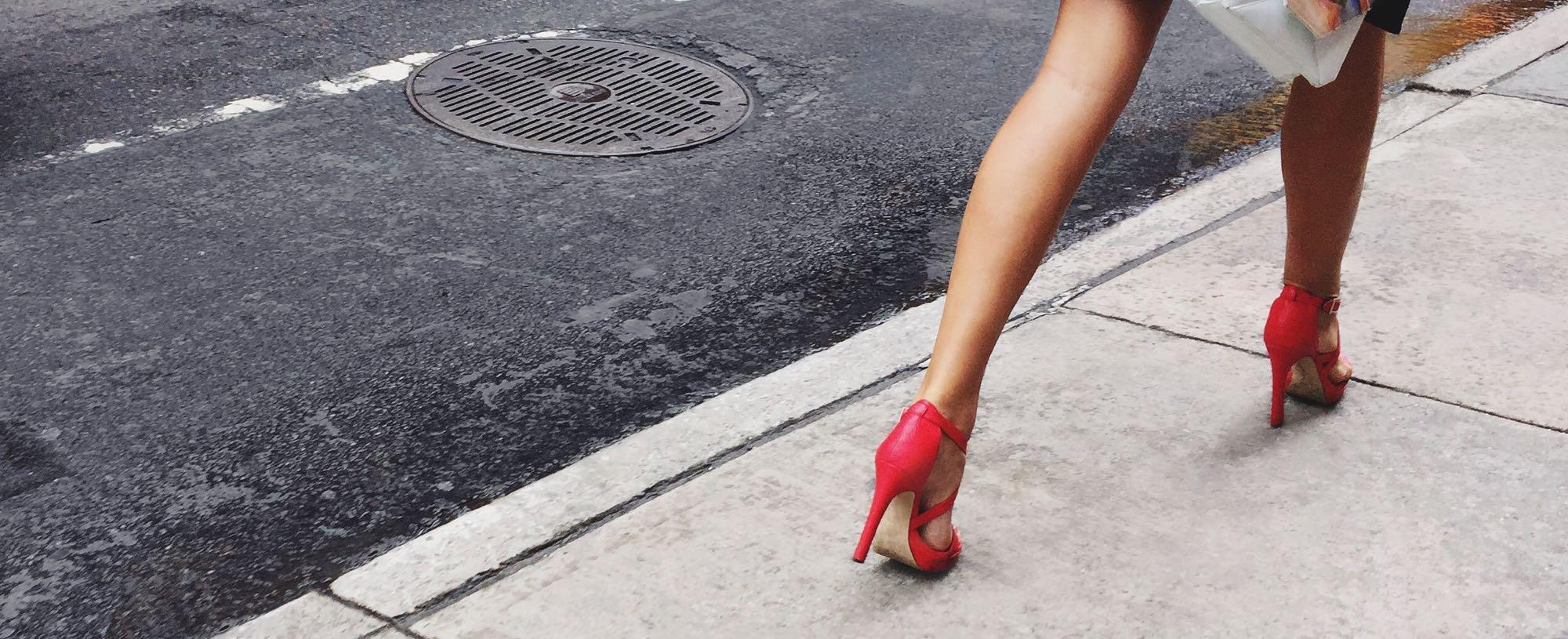 High Heels on Sidewalk 2
