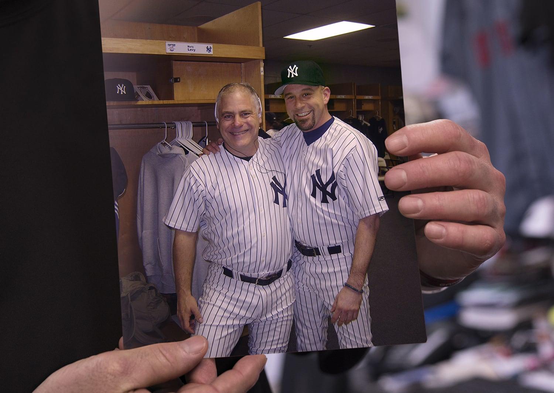 Eric Wearing Yankees Jersey