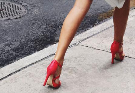 High Heels on Sidewalk